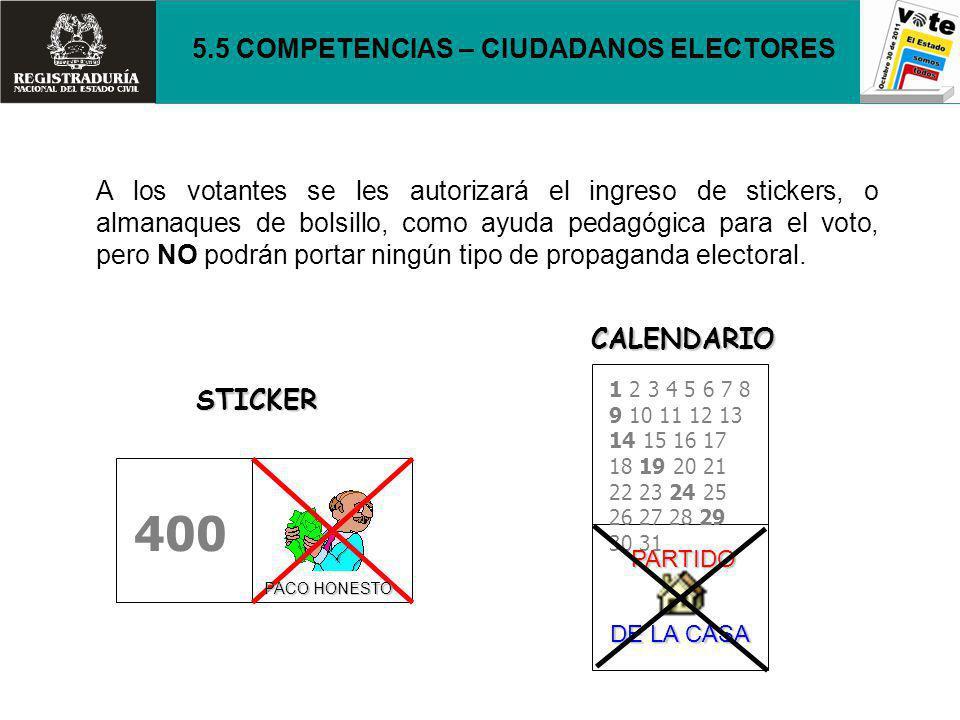 400 5.5 COMPETENCIAS – CIUDADANOS ELECTORES
