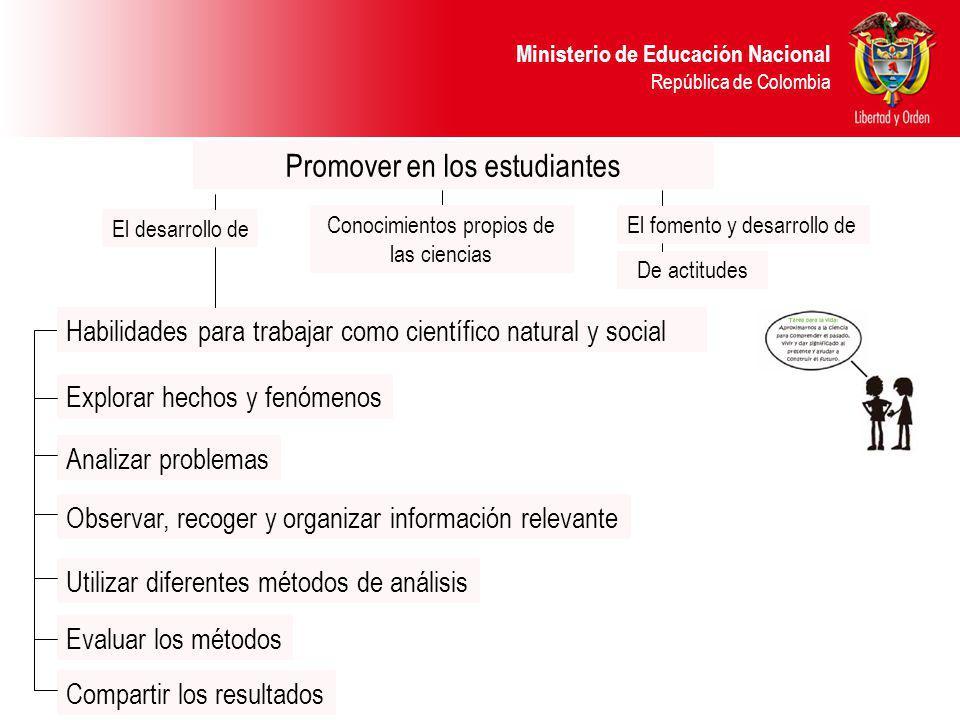 Promover en los estudiantes