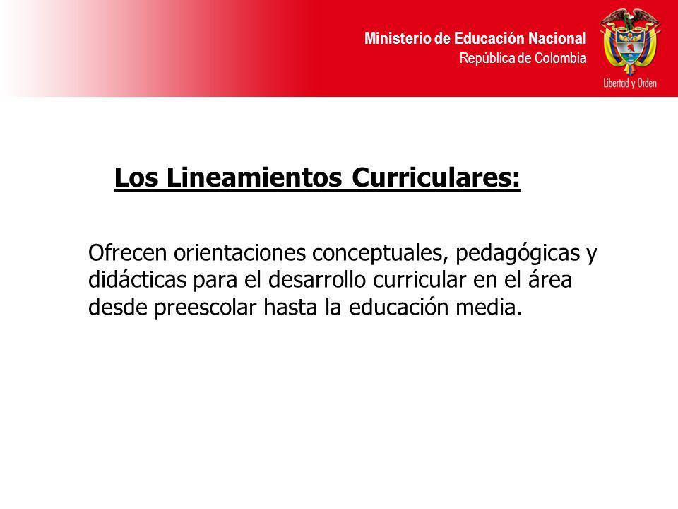 Los Lineamientos Curriculares: