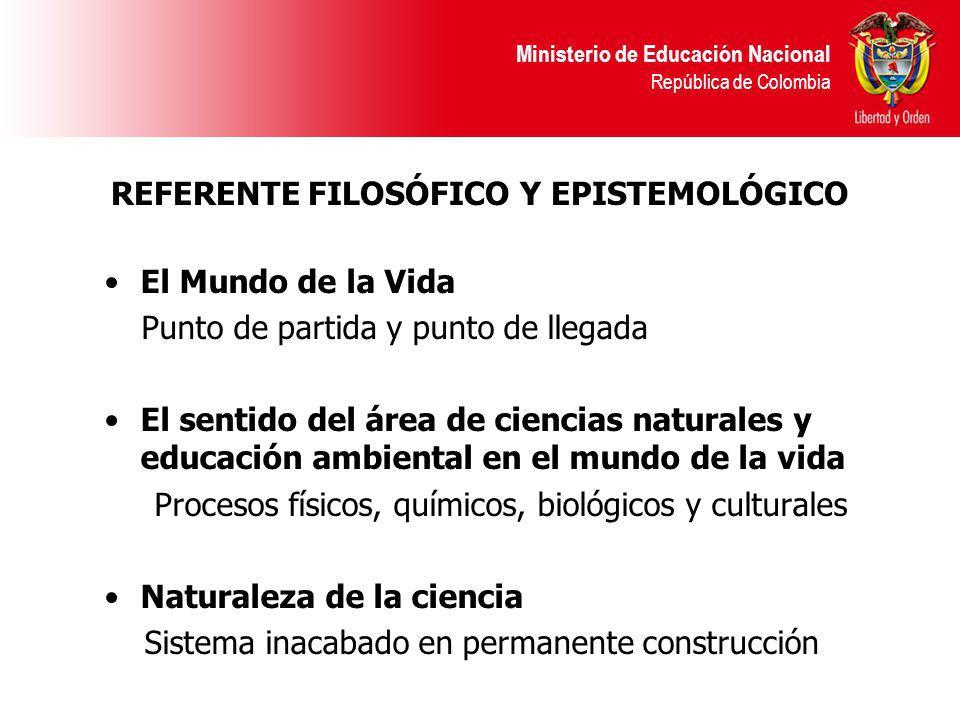 REFERENTE FILOSÓFICO Y EPISTEMOLÓGICO