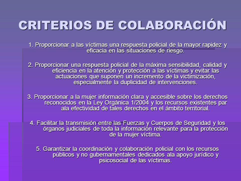 CRITERIOS DE COLABORACIÓN