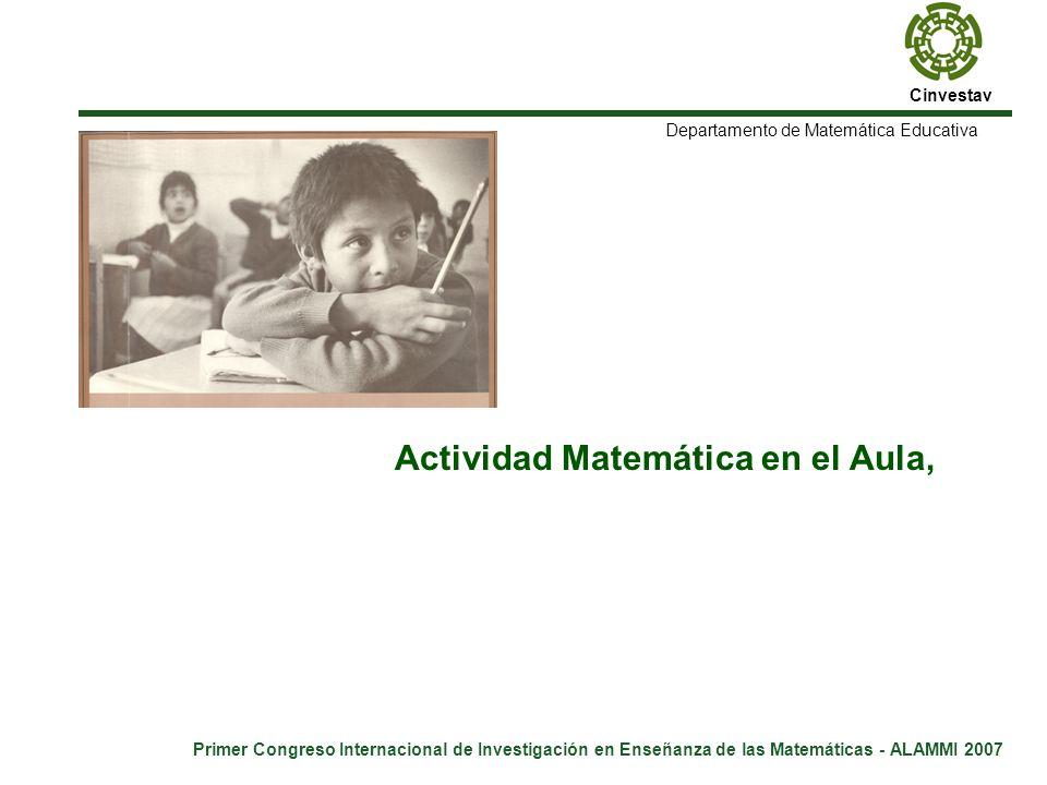 Actividad Matemática en el Aula,