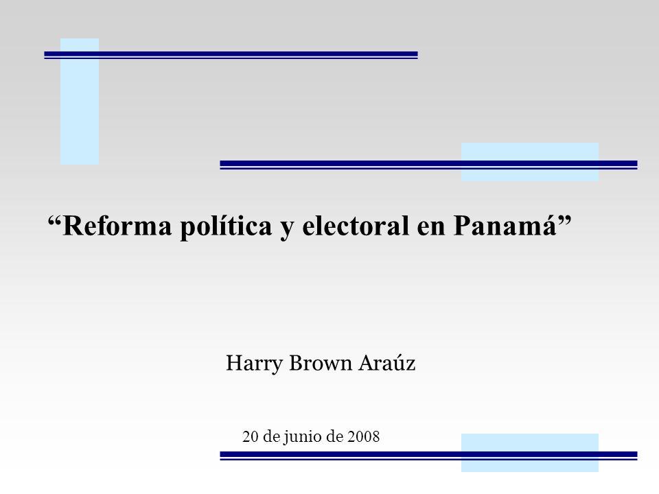 Reforma política y electoral en Panamá