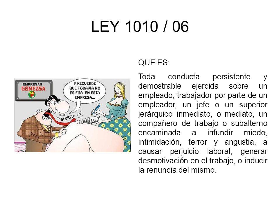 LEY 1010 / 06 QUE ES: