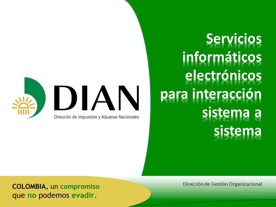 Servicios informáticos electrónicos para interacción sistema a sistema