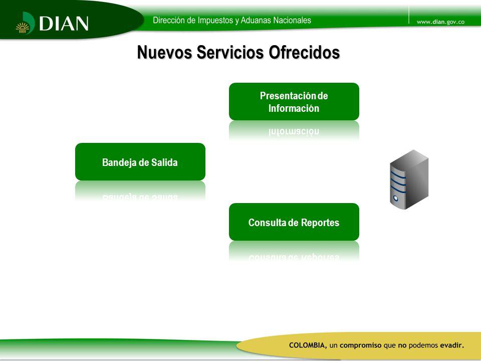 Nuevos Servicios Ofrecidos Presentación de Información