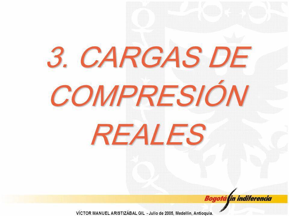 3. CARGAS DE COMPRESIÓN REALES