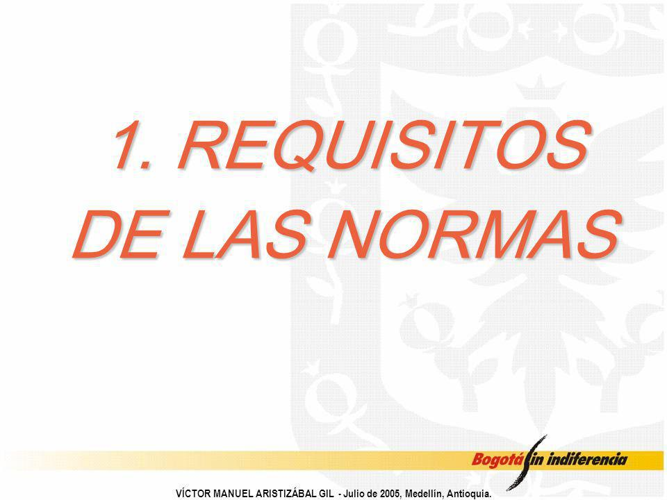 1. REQUISITOS DE LAS NORMAS