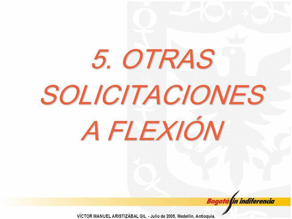 5. OTRAS SOLICITACIONES A FLEXIÓN