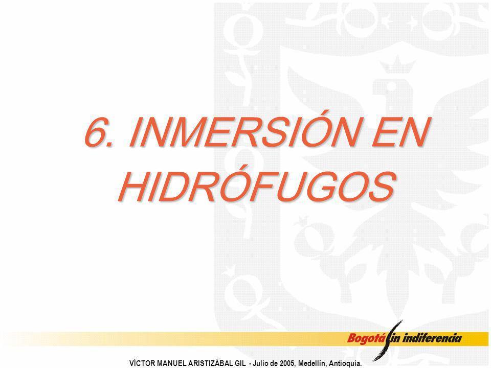 6. INMERSIÓN EN HIDRÓFUGOS