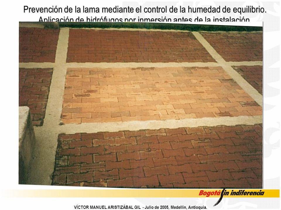 Prevención de la lama mediante el control de la humedad de equilibrio