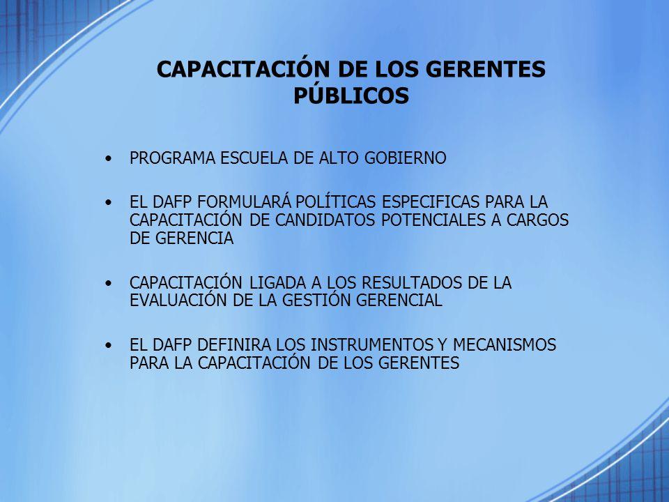 CAPACITACIÓN DE LOS GERENTES PÚBLICOS