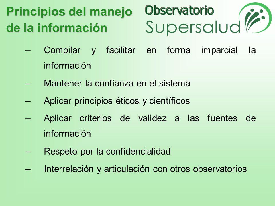 Principios del manejo de la información