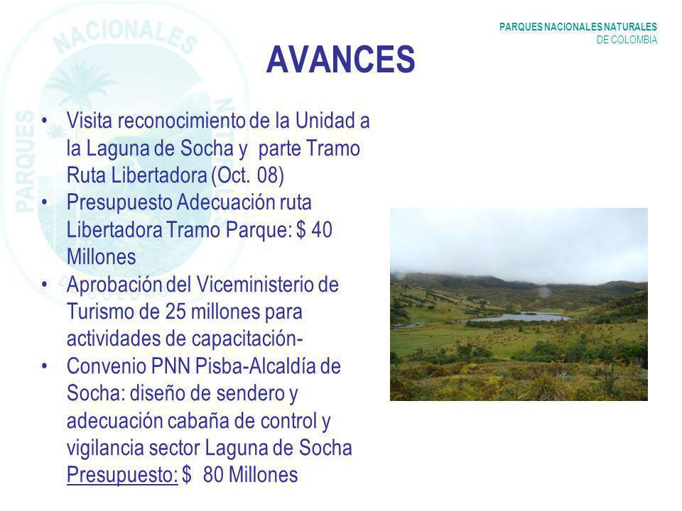 AVANCES Visita reconocimiento de la Unidad a la Laguna de Socha y parte Tramo Ruta Libertadora (Oct. 08)