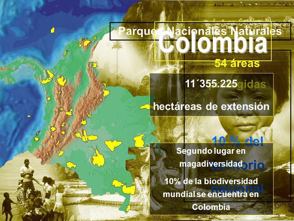 Colombia 10 % del territorio nacional Parques Nacionales Naturales