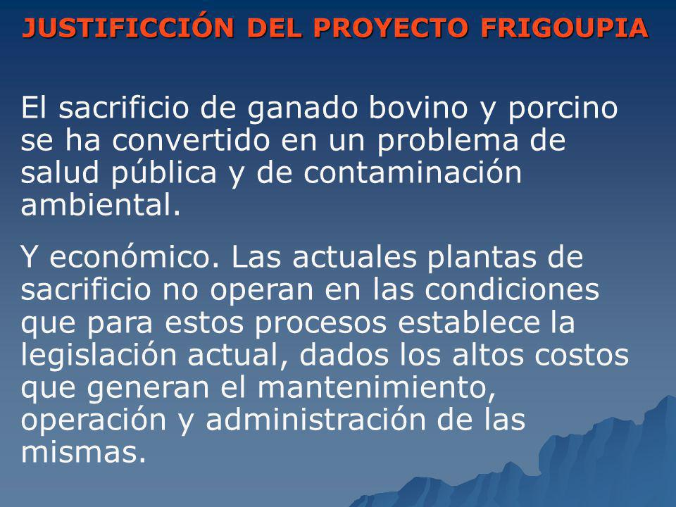 JUSTIFICCIÓN DEL PROYECTO FRIGOUPIA