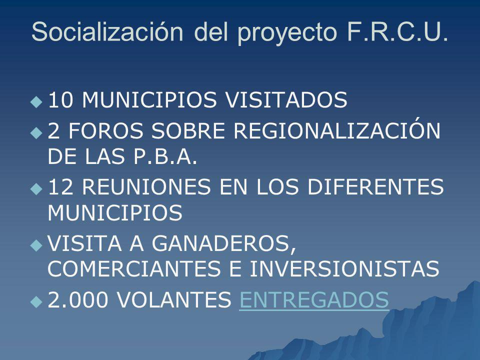 Socialización del proyecto F.R.C.U.