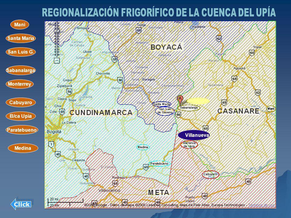 REGIONALIZACIÓN FRIGORÍFICO DE LA CUENCA DEL UPÍA