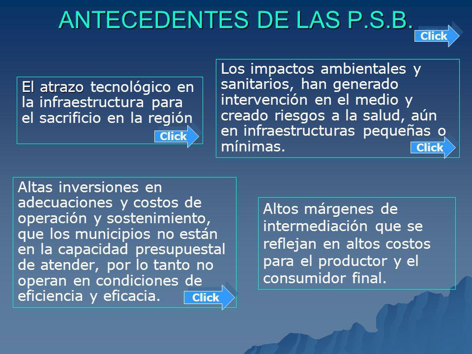 ANTECEDENTES DE LAS P.S.B.