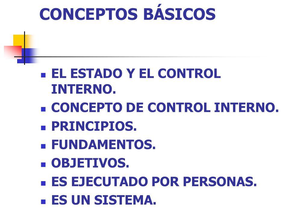 CONCEPTOS BÁSICOS EL ESTADO Y EL CONTROL INTERNO.