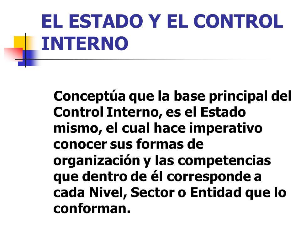 EL ESTADO Y EL CONTROL INTERNO