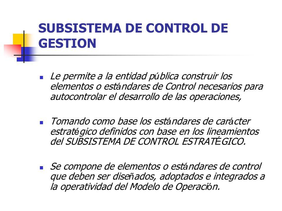 SUBSISTEMA DE CONTROL DE GESTION