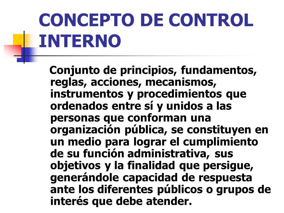 CONCEPTO DE CONTROL INTERNO