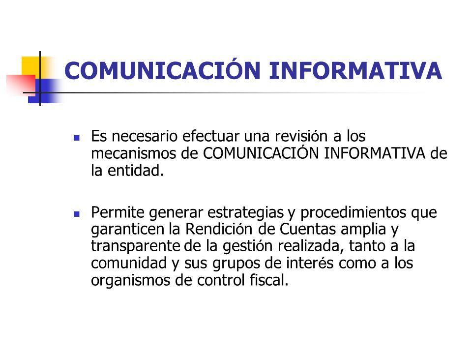 COMUNICACIÓN INFORMATIVA
