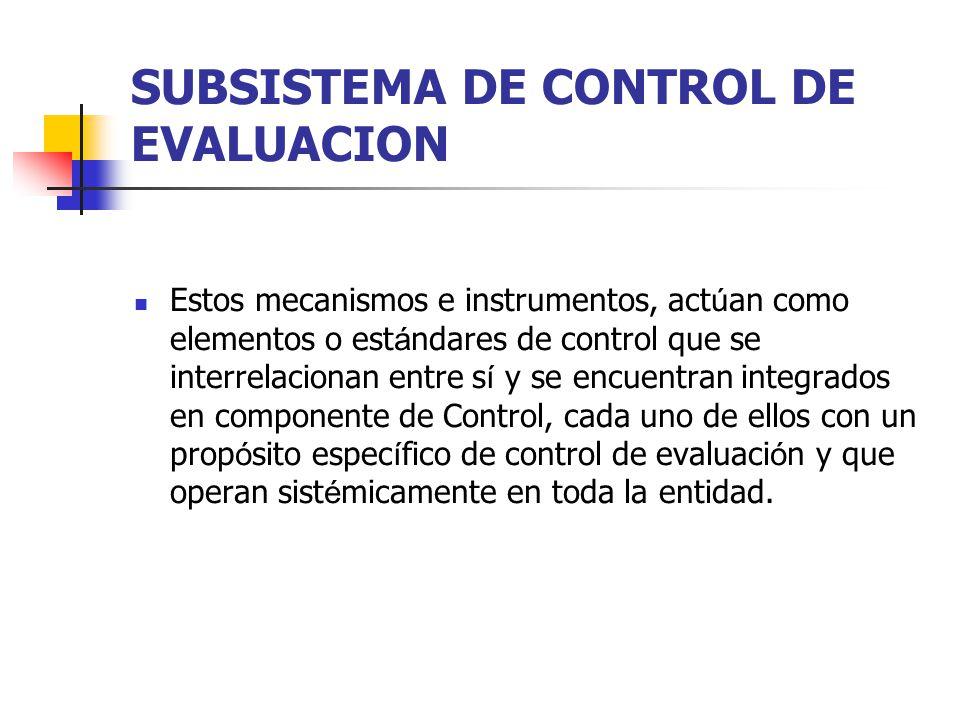 SUBSISTEMA DE CONTROL DE EVALUACION