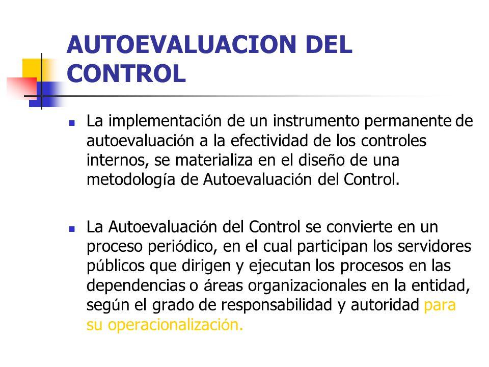 AUTOEVALUACION DEL CONTROL