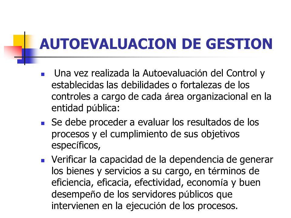 AUTOEVALUACION DE GESTION