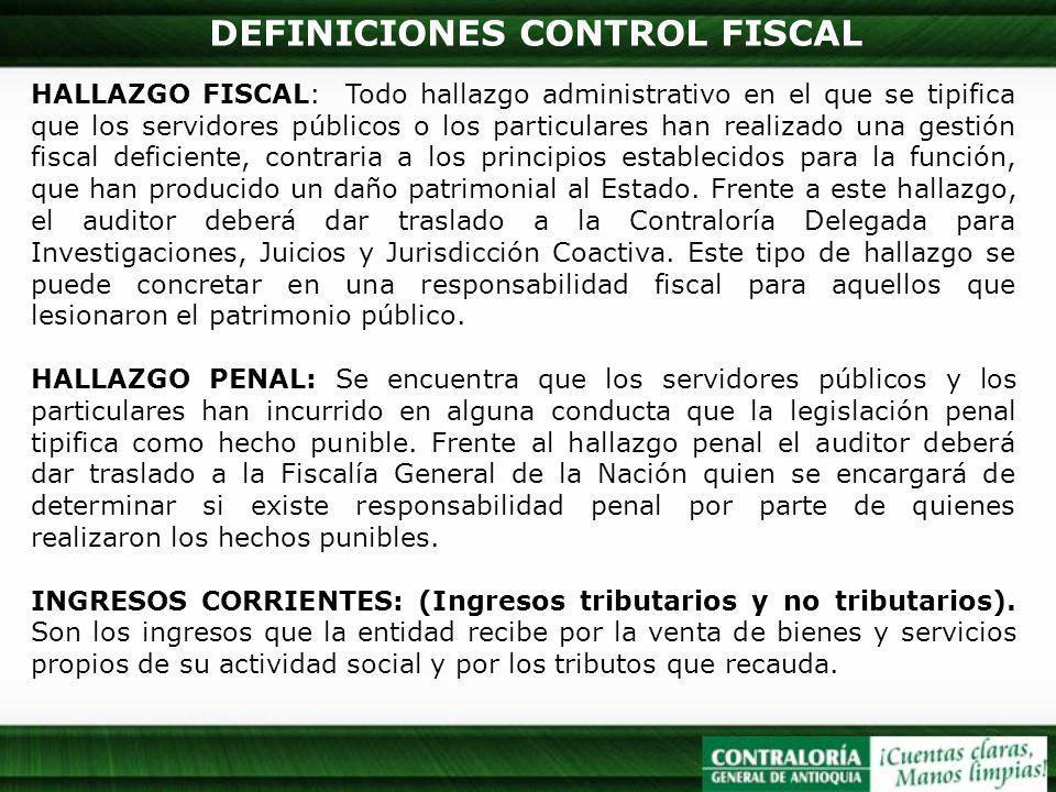 DEFINICIONES CONTROL FISCAL