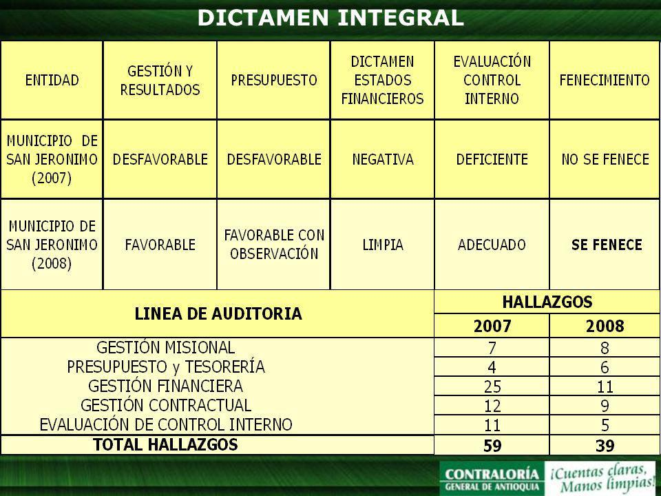 DICTAMEN INTEGRAL