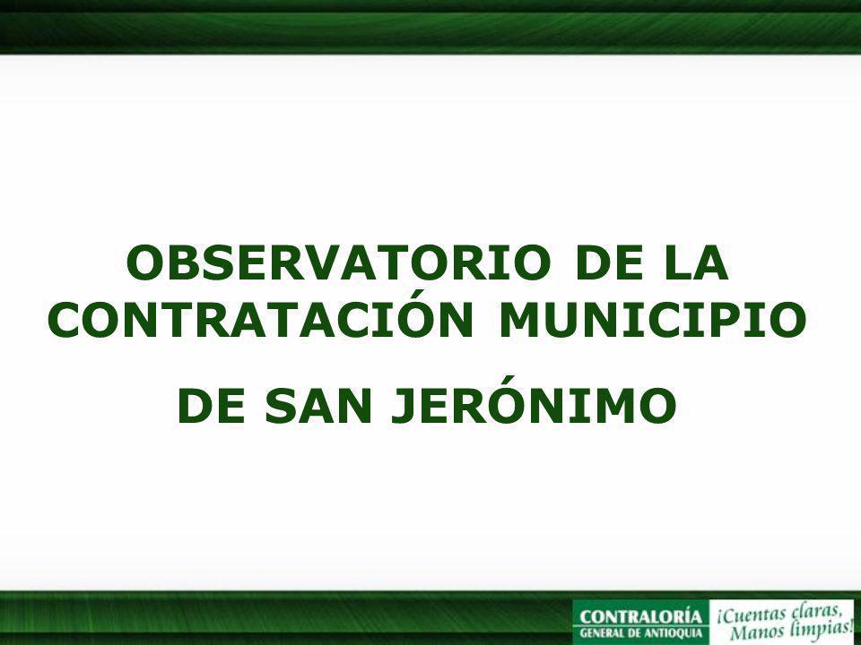 OBSERVATORIO DE LA CONTRATACIÓN MUNICIPIO