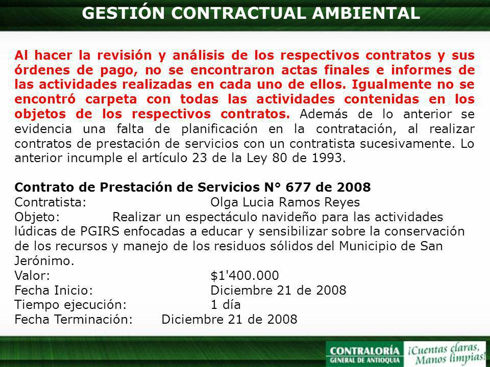 GESTIÓN CONTRACTUAL AMBIENTAL