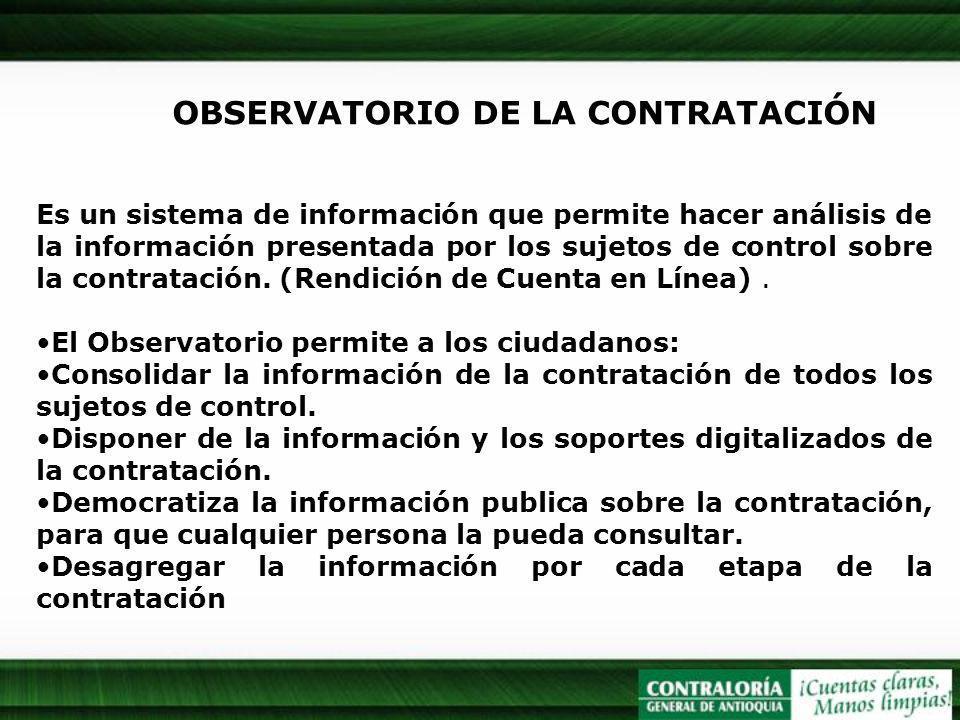 OBSERVATORIO DE LA CONTRATACIÓN