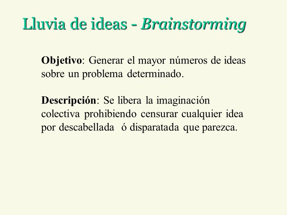 Lluvia de ideas - Brainstorming