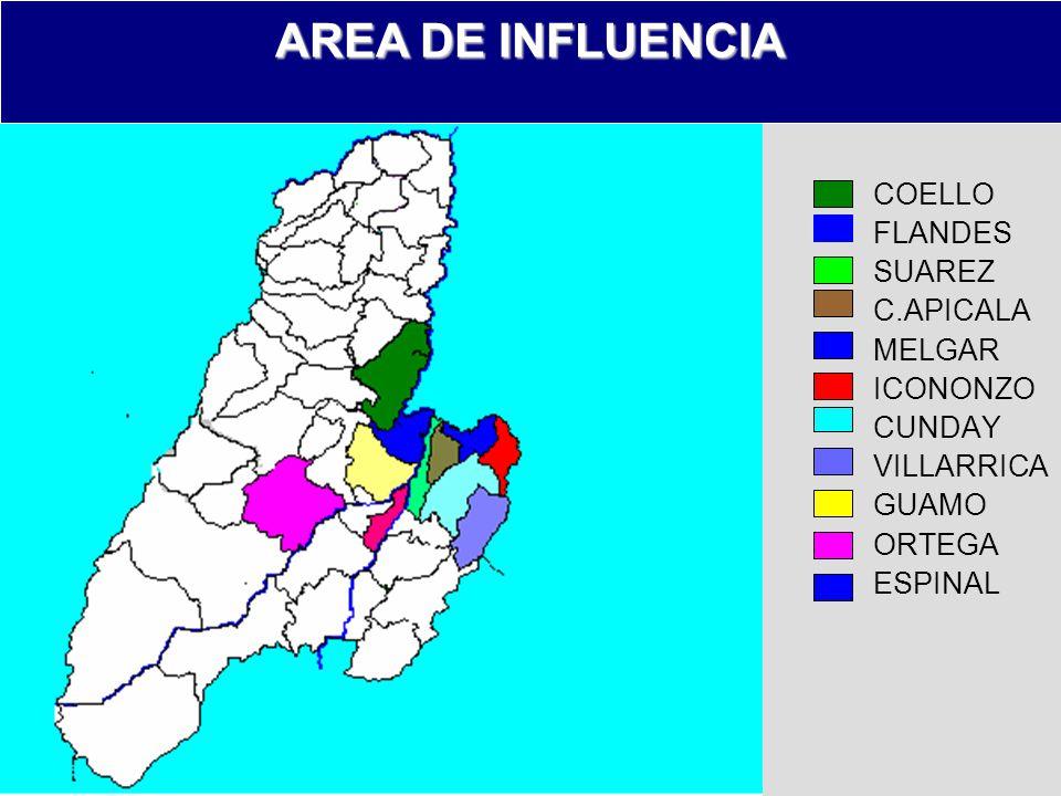 AREA DE INFLUENCIA COELLO FLANDES SUAREZ C.APICALA MELGAR ICONONZO
