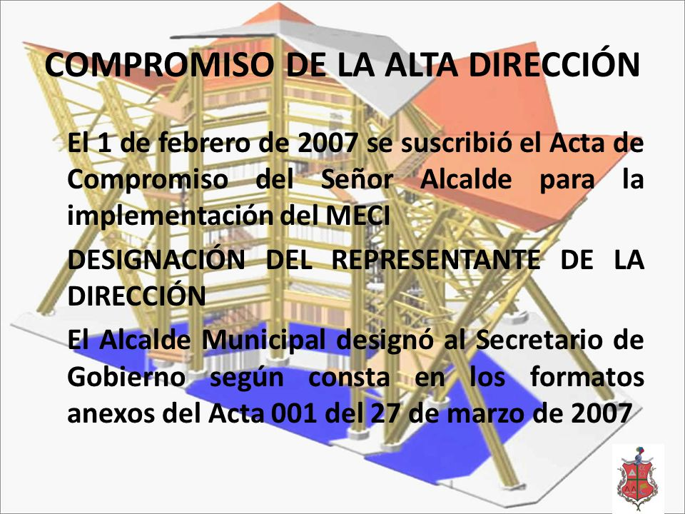 COMPROMISO DE LA ALTA DIRECCIÓN