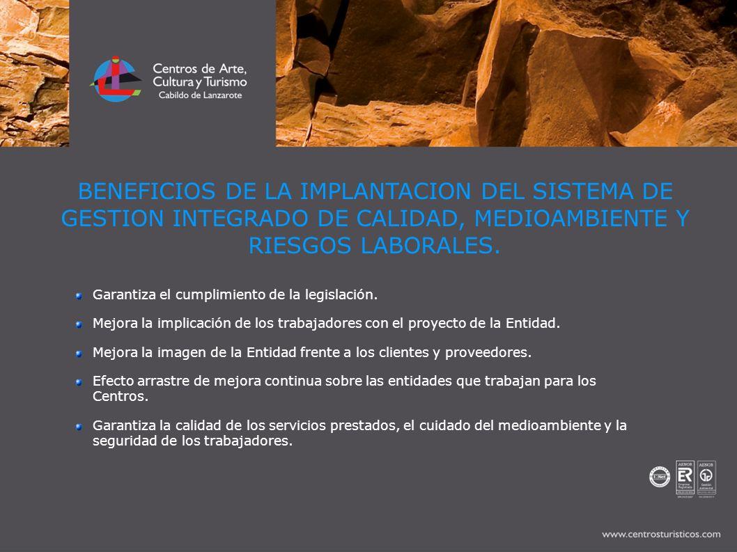 BENEFICIOS DE LA IMPLANTACION DEL SISTEMA DE GESTION INTEGRADO DE CALIDAD, MEDIOAMBIENTE Y RIESGOS LABORALES.