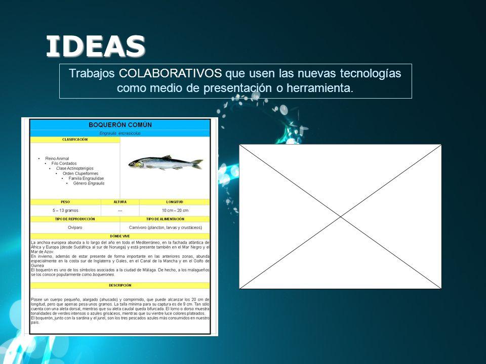 IDEASTrabajos COLABORATIVOS que usen las nuevas tecnologías como medio de presentación o herramienta.