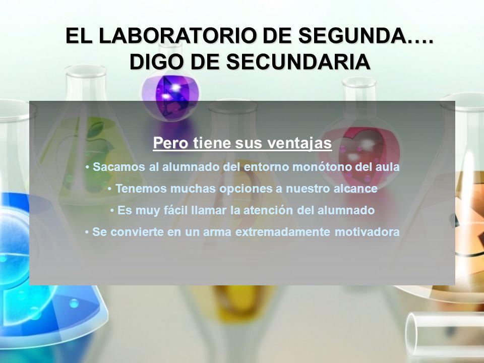 EL LABORATORIO DE SEGUNDA…. DIGO DE SECUNDARIA