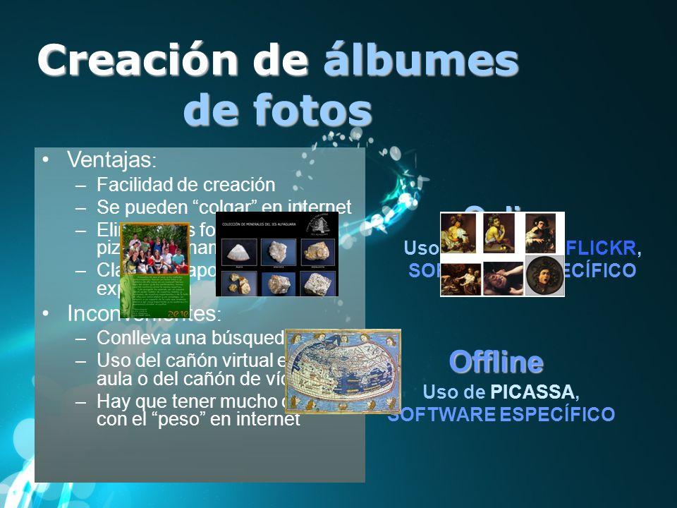 Creación de álbumes de fotos