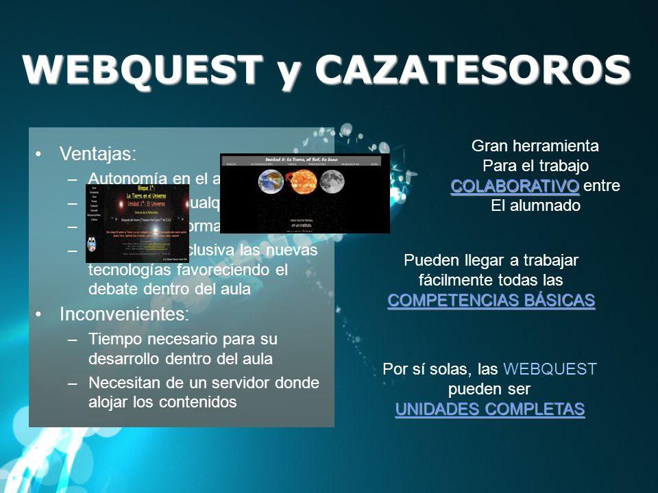 WEBQUEST y CAZATESOROS