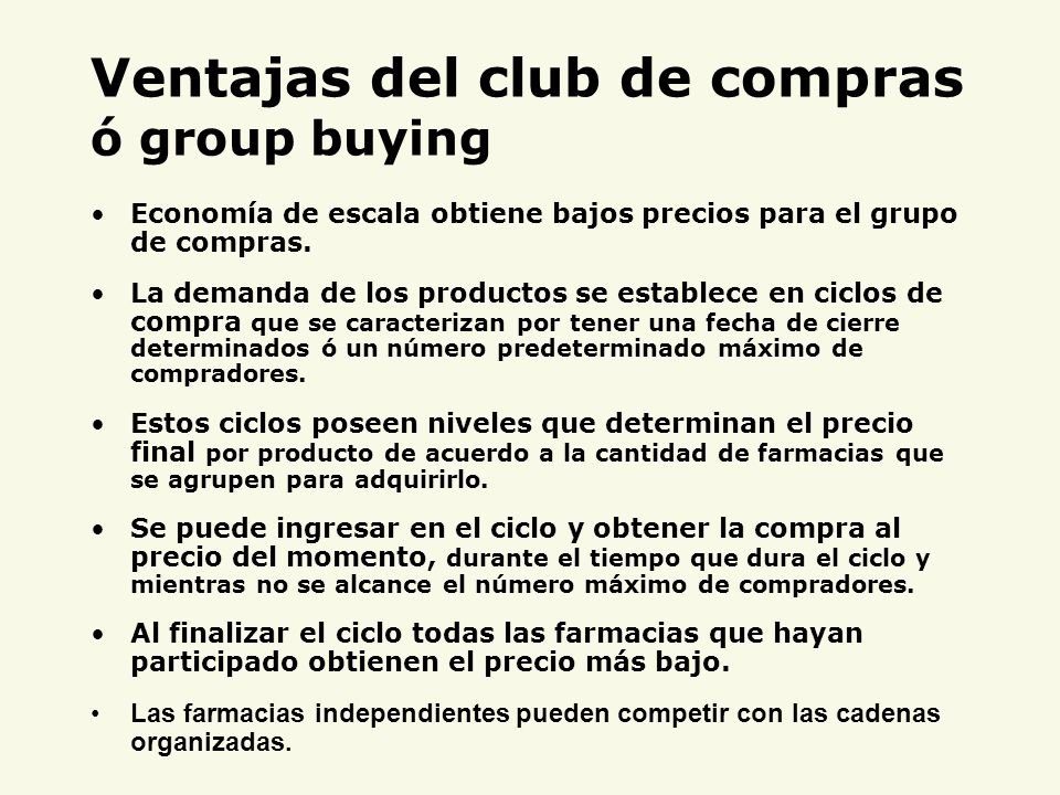Ventajas del club de compras ó group buying