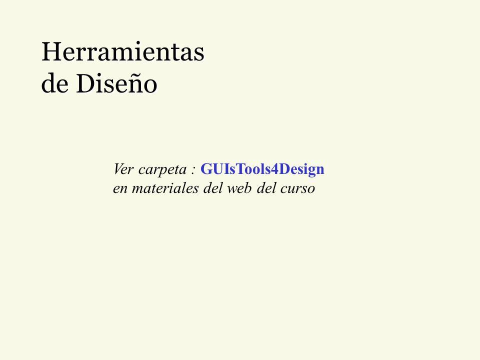 Herramientas de Diseño Ver carpeta : GUIsTools4Design