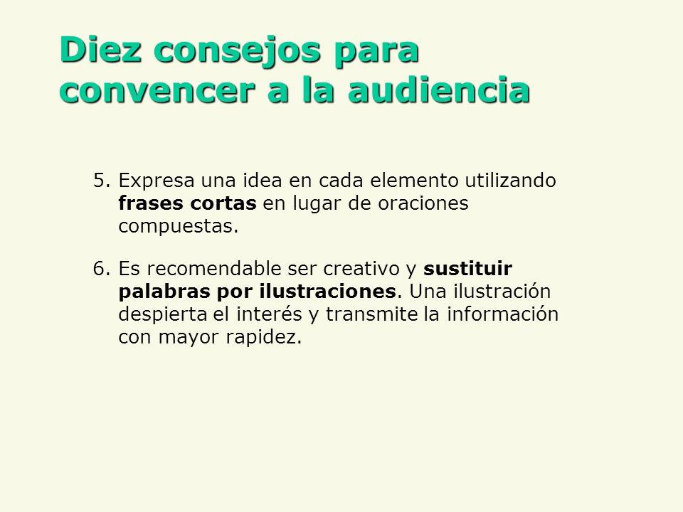 Diez consejos para convencer a la audiencia