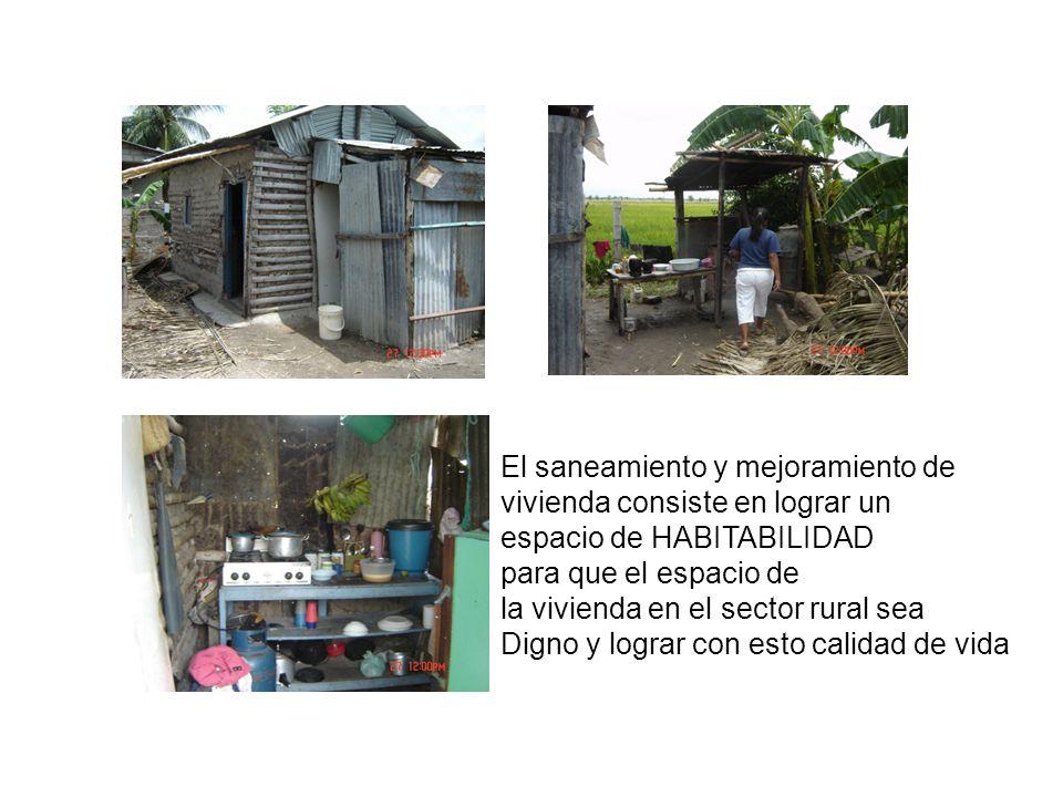 El saneamiento y mejoramiento de