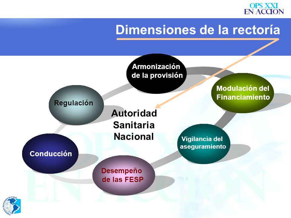 Dimensiones de la rectoría