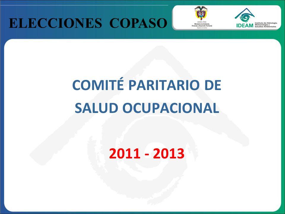COMITÉ PARITARIO DE SALUD OCUPACIONAL 2011 - 2013